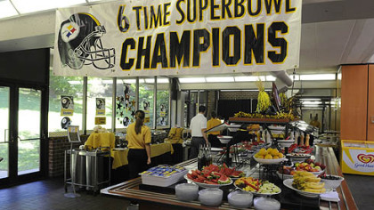 Cafeteria for the Steelers at St. Vincent College in Latrobe.
